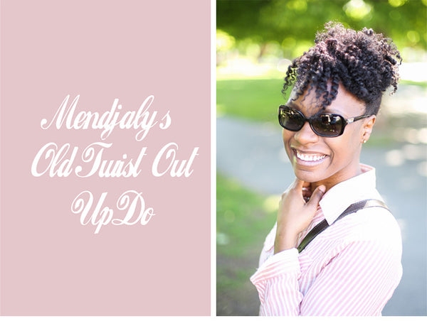 Updo with Old Twist Out