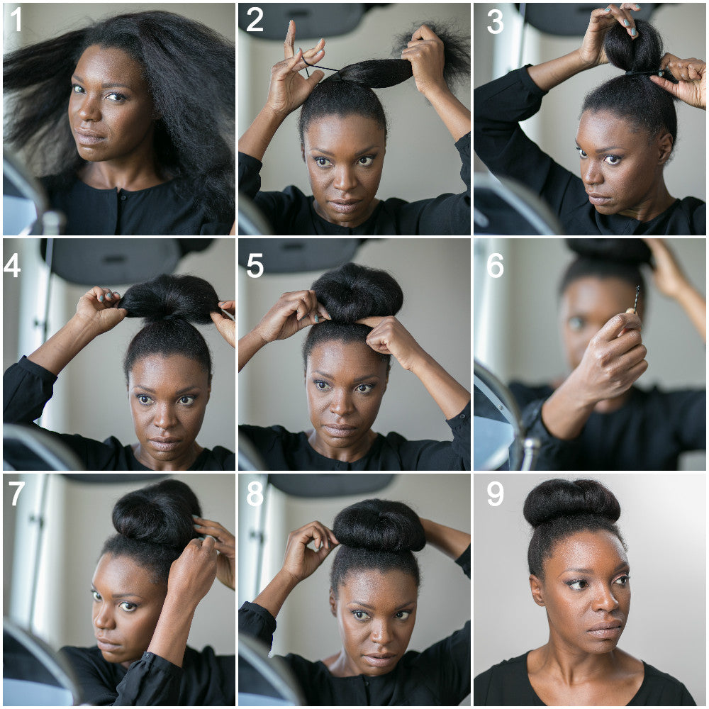 Simple High Bun Frize Frize