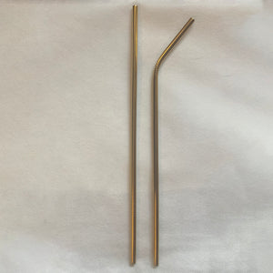 Gold Stainless Steel Straws (2)