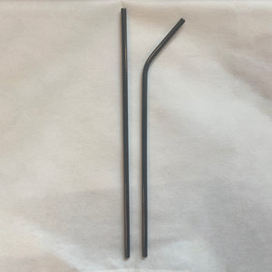 Black Stainless Steel Straws (2)