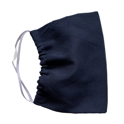 Navy Blue - 2 Layer Cotton Mask