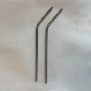 Silver Stainless Steel Straws (2)