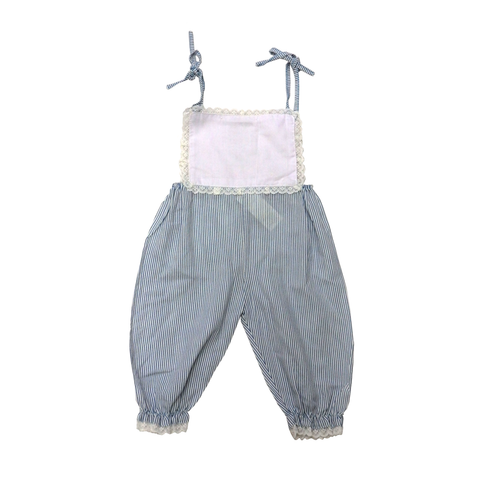 Vintage 70s Blue Sugar Baby Dungarees | 0-3 Months