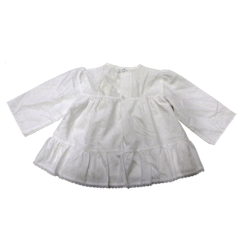 Vintage White Frilly Lace Dress | 0-6 Months