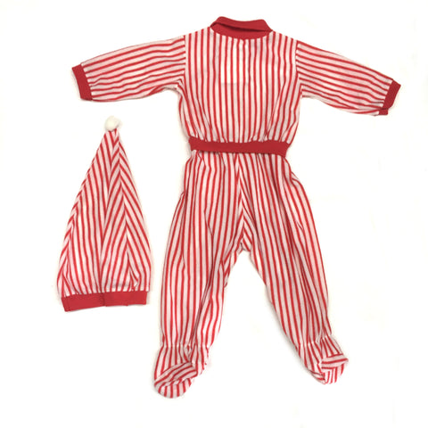 Christmas Stripey Onesie with Hat | 6-9 Months