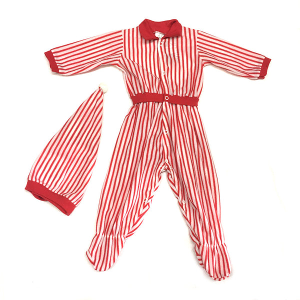 Christmas Stripey Onesie with Hat