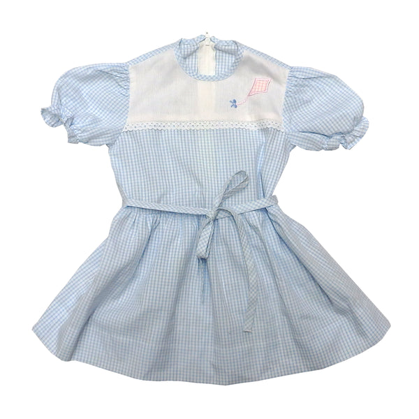 Vintage Sweet Blue Gingham Dress
