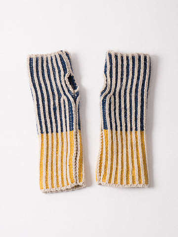 Bobo Choses Bicolour Mittens | Blue & Yellow
