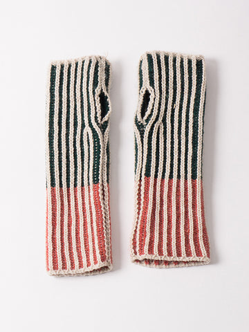 Bobo Choses Bicolour Mittens | Green & Red