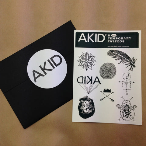 AKID Temporary Tattoos