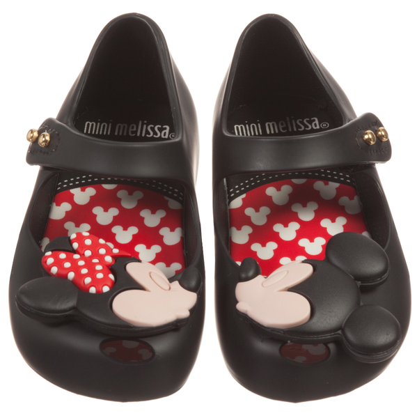minnie mickey mouse shoe black rowdy roddy vintage