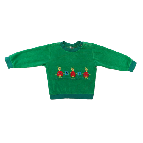 Vintage Green Jumper with Ladybirds | 12-18 Months