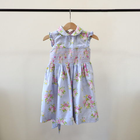 Laura Ashley Blue Floral Dress