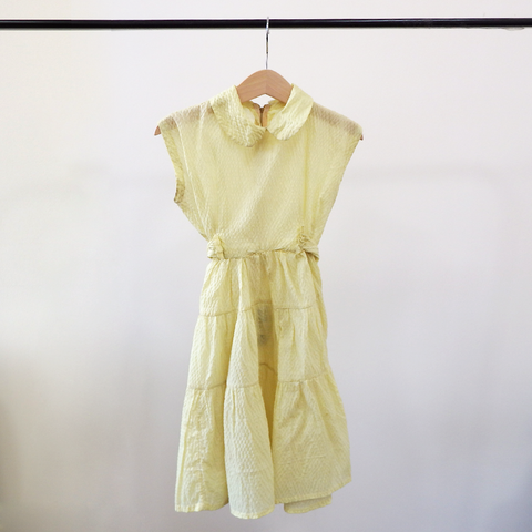 Vintage Lemon Tier Dress