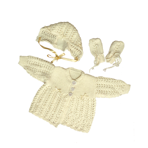 Vintage Knitted Three Piece Set