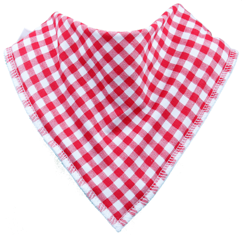 Red Gingham Dribble Bib