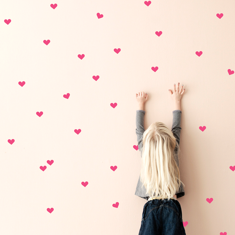 Pink Hearts Wall Stickers