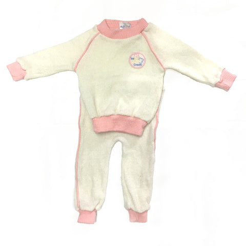Vintage 70s Knitted Tracksuit with Ice Cream Patch | 0-3 Months