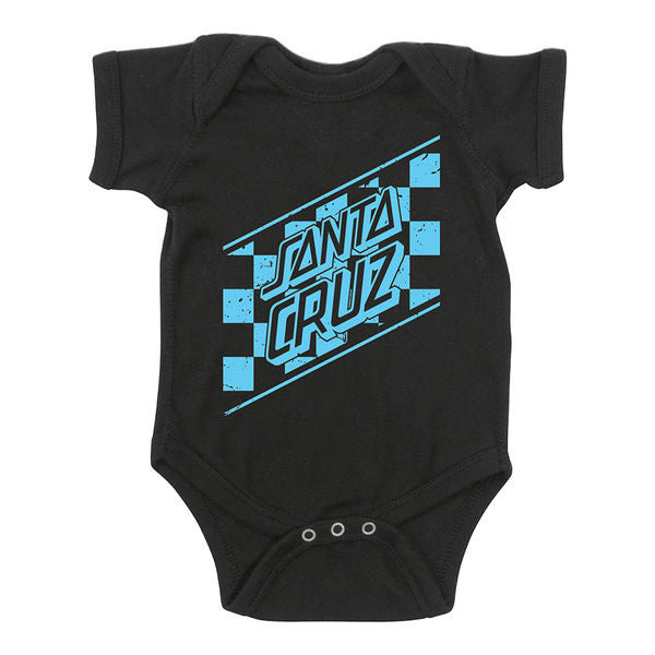 Santa Cruz Skateboards Blue Checked Baby Grow