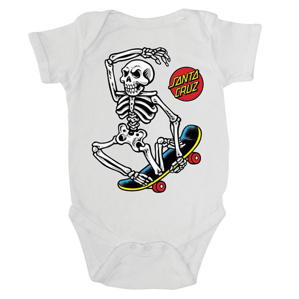 Santa Cruz Skateboards White Skate Riot Baby Grow