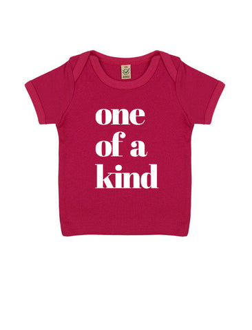 Baby 'One of a Kind' Organic T-Shirt | Pink