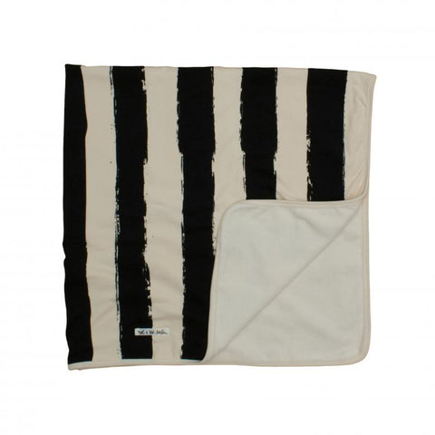 Black Stripes Organic Cotton Blanket