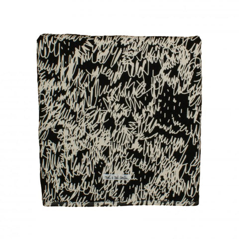 Black Scribble Organic Cotton Blanket