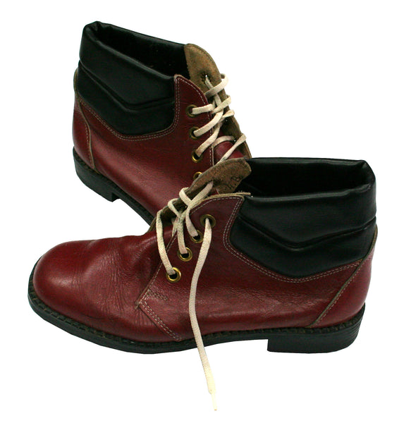 Vintage Leather Oxblood Boots