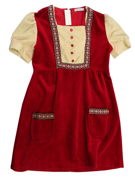 Red & Cream Vintage Dress