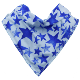 Blue Starlight Dribble Bib