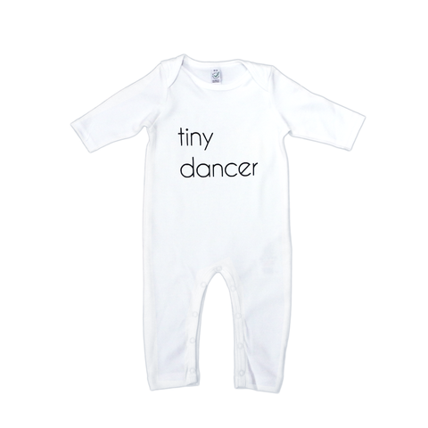 Tiny Dancer Organic Onesie | White