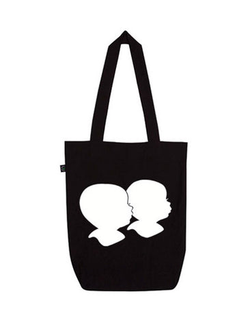 Rowdy Roddy Organic Silhouette Siblings Tote Bag