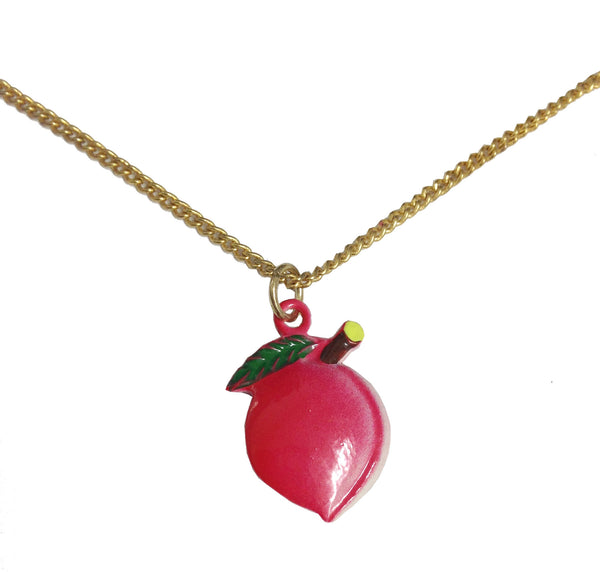 Vintage Fruit Necklace | Peach