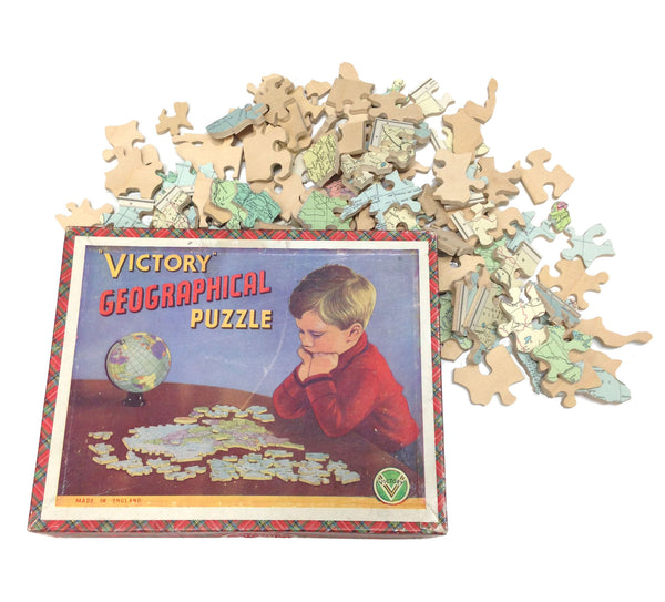 Vintage Victory Geographical Jigsaw | Europe