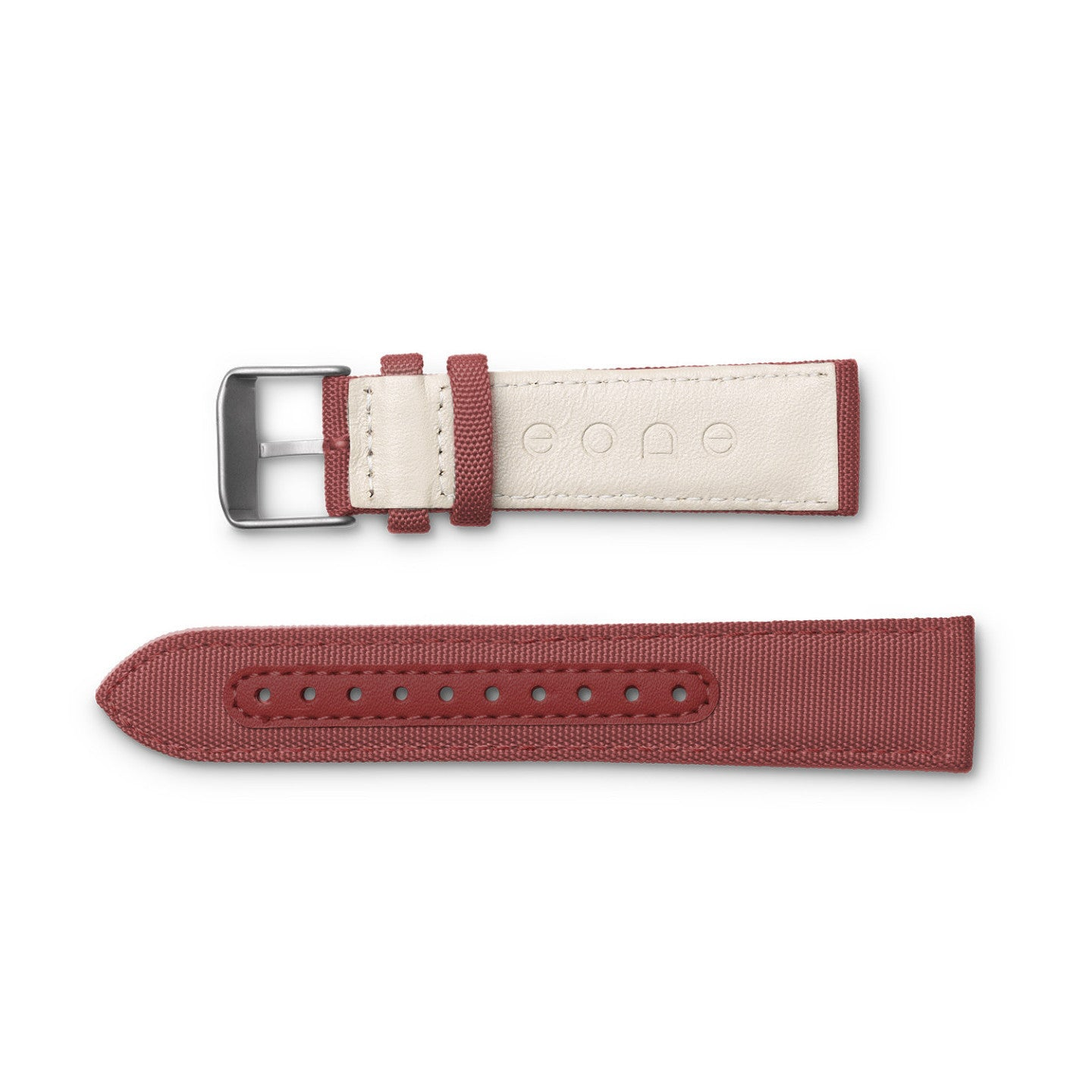 Bradley Wine Red Watch Canvas & Leather Wristband Gift Set