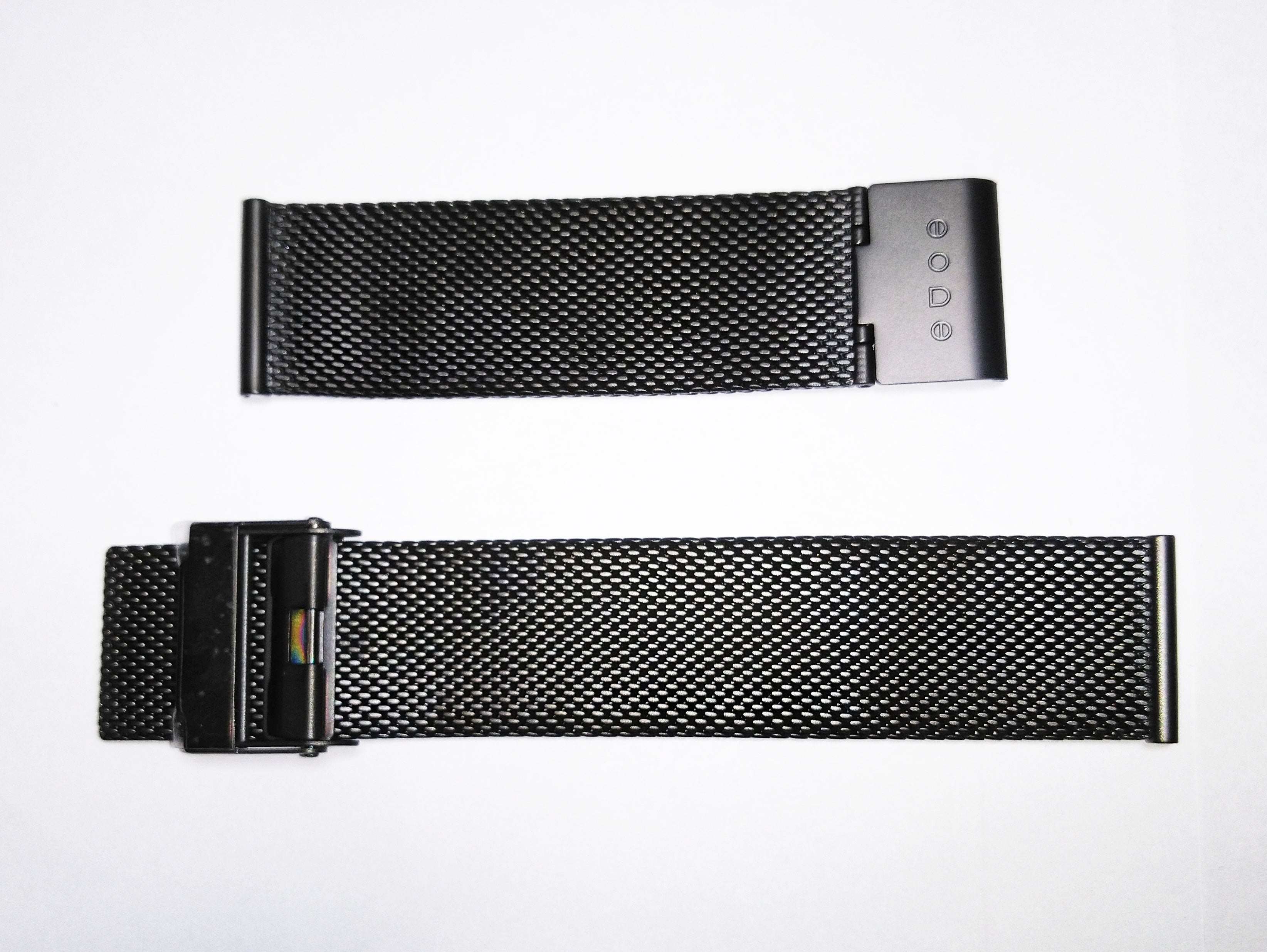 Bradley Steel Black Mesh Watch Wristband Gift Set