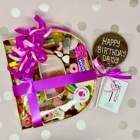 Sweet filled letter and large Choc Pop bundle