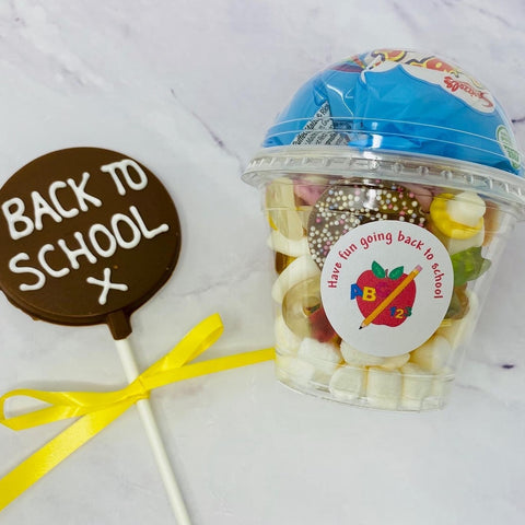 Back to school Choc Pop and Sweetie tub