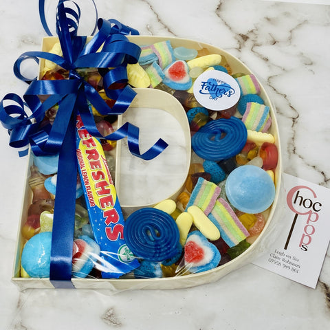 Father's Day Sweet filled Letter D