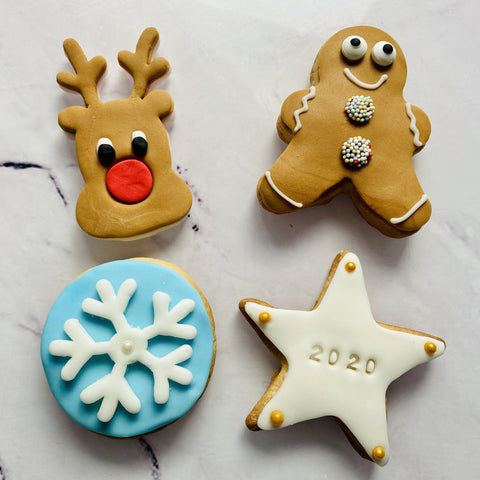 Individual Christmas Biscuits