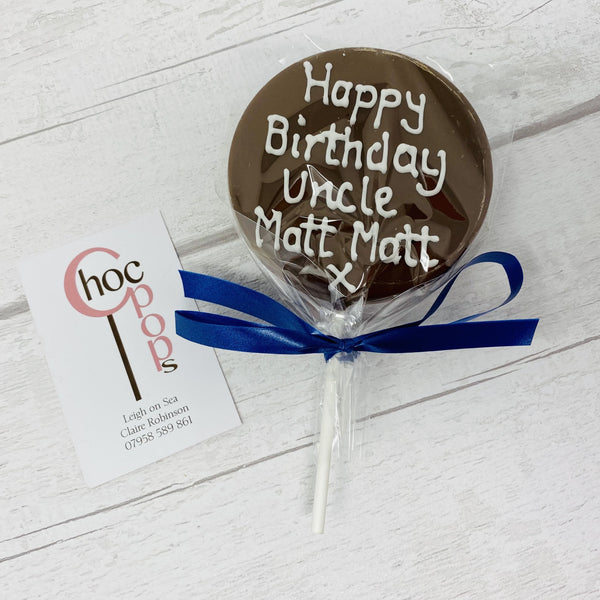 Extra Large Iced message Choc Pop