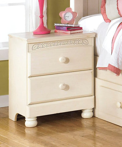 Cottage Retreat Two Drawer Night Stand Cream Cottage