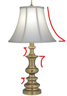 A Bell Shade On A Curved Base