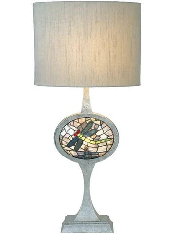Meyda Tiffany Cameo Dragonfly Lighted Base Table Lamp_12569
