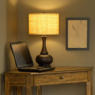Soft-back lamp shade