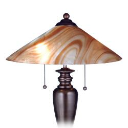Art-glass style lamps