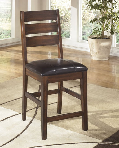 Larchmont Set of 2 Upholstered Dining Chairs Burnished Dark Brown
