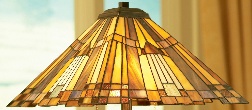 geometric tiffany style lamp