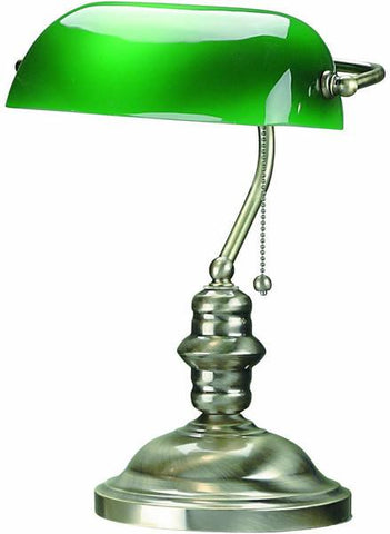"15""h Banker Banker's Lamp Antique Brass"