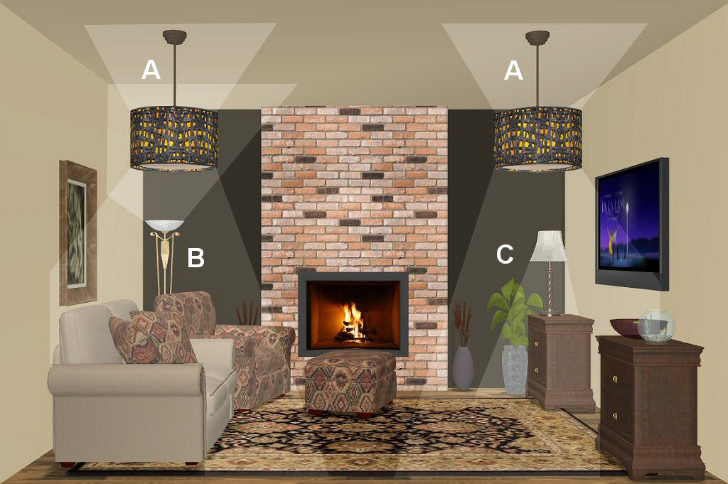 Living Room Lighting Design Plan 2